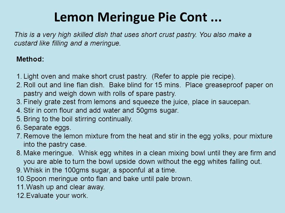 Lemon Meringue Pie Cont ...