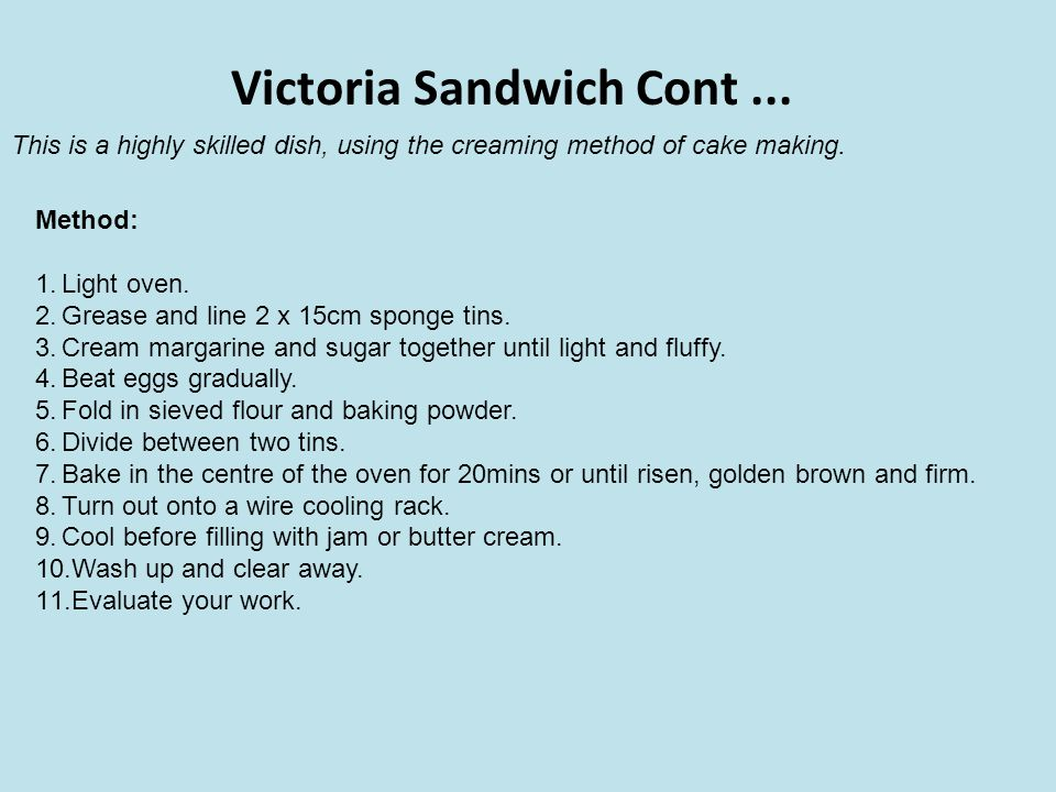 Victoria Sandwich Cont ...