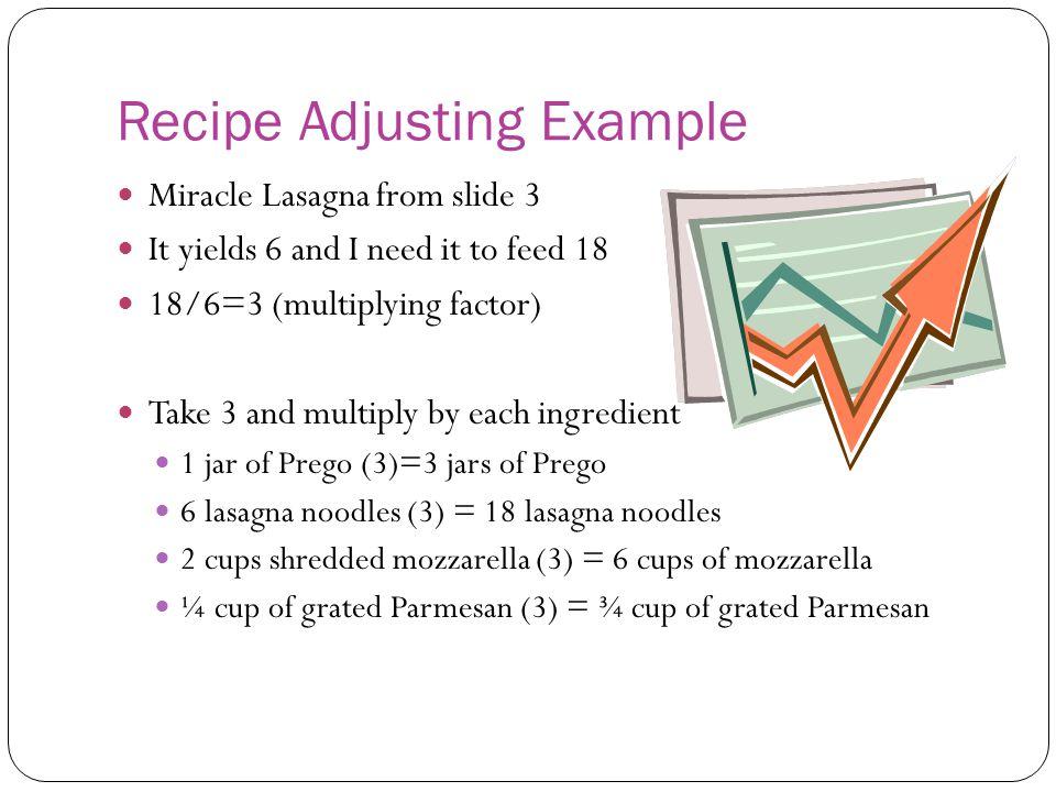 Recipe Adjusting Example