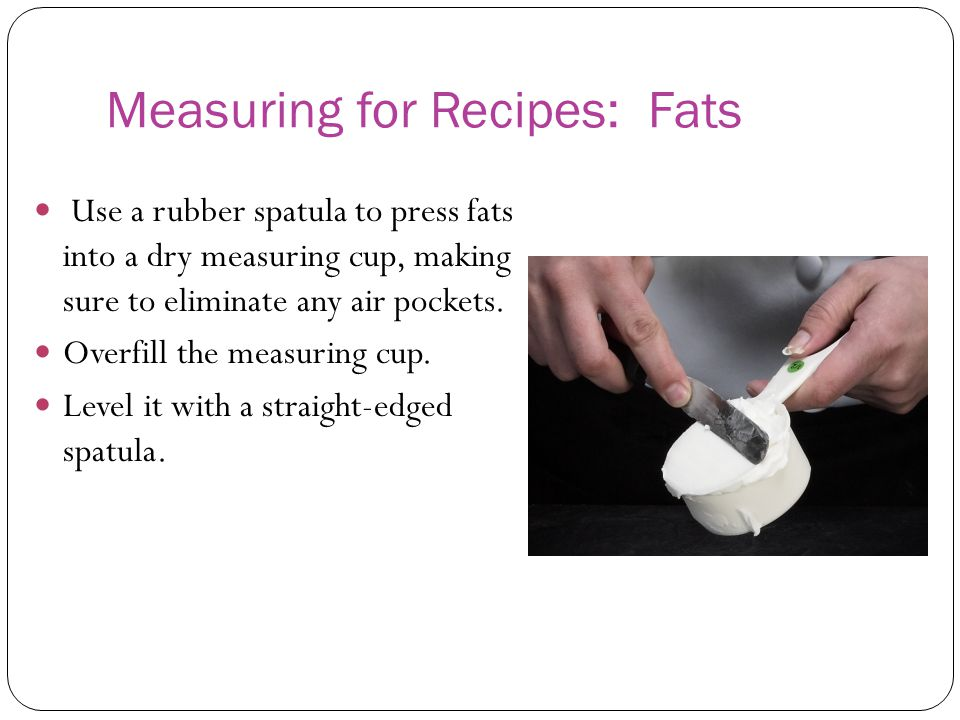 Measuring for Recipes: Fats