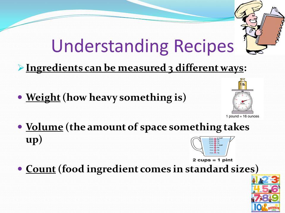Understanding Recipes