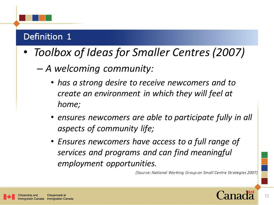 Toolbox of Ideas for Smaller Centres (2007)