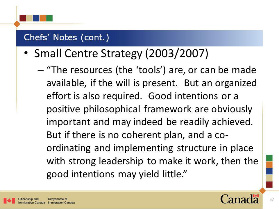 Small Centre Strategy (2003/2007)