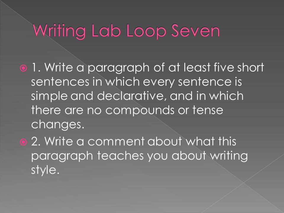 Writing Lab Loop Seven