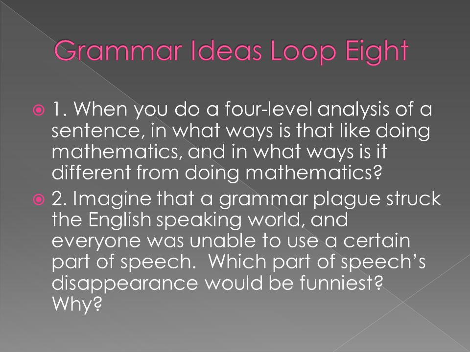 Grammar Ideas Loop Eight