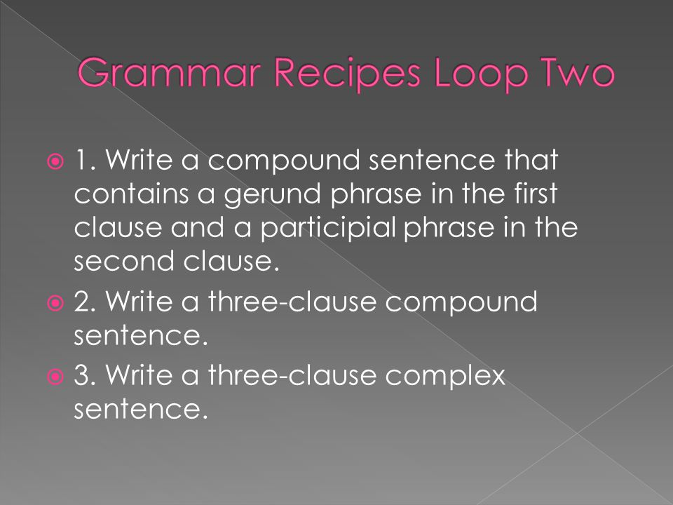 Grammar Recipes Loop Two