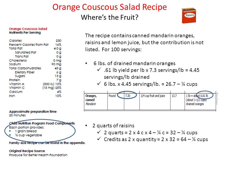 Orange Couscous Salad Recipe Where's the Fruit