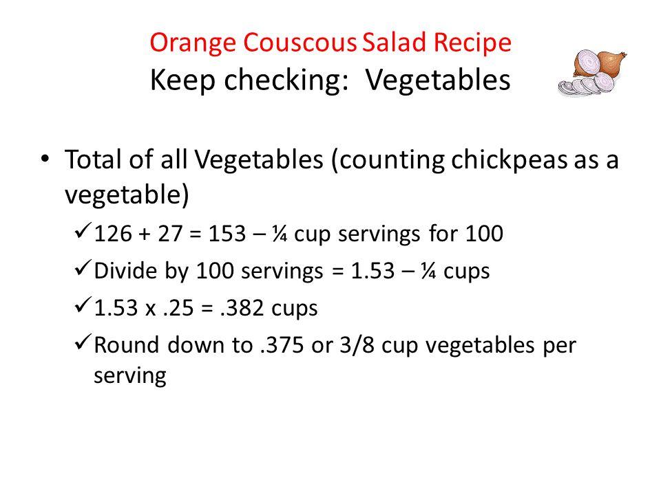 Orange Couscous Salad Recipe Keep checking: Vegetables