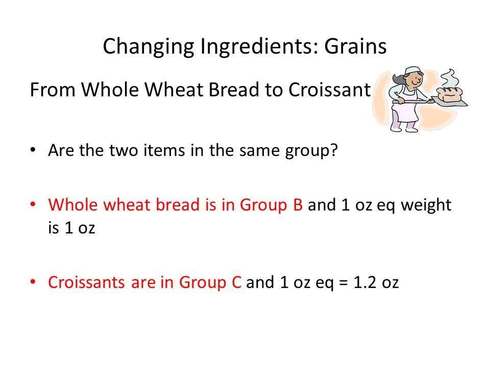 Changing Ingredients: Grains
