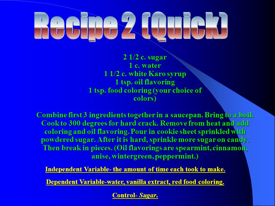 Recipe 2 (Quick)