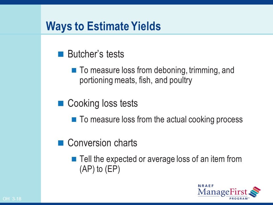 Ways to Estimate Yields
