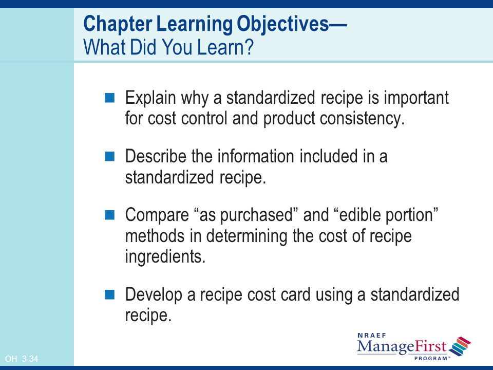 Chapter Learning Objectives— What Did You Learn