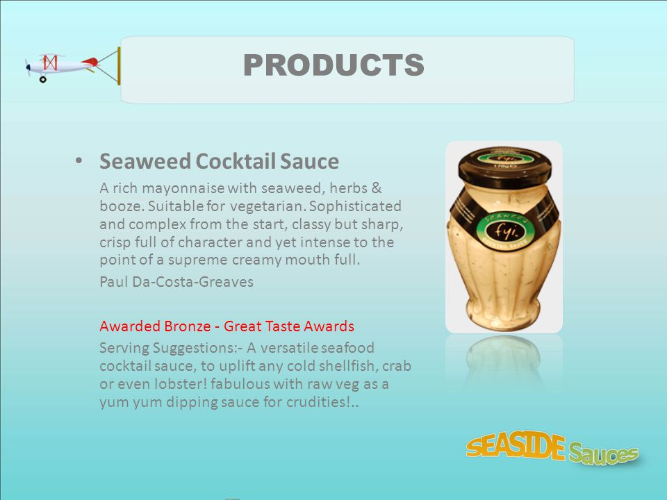 PRODUCTS Seaweed Cocktail Sauce