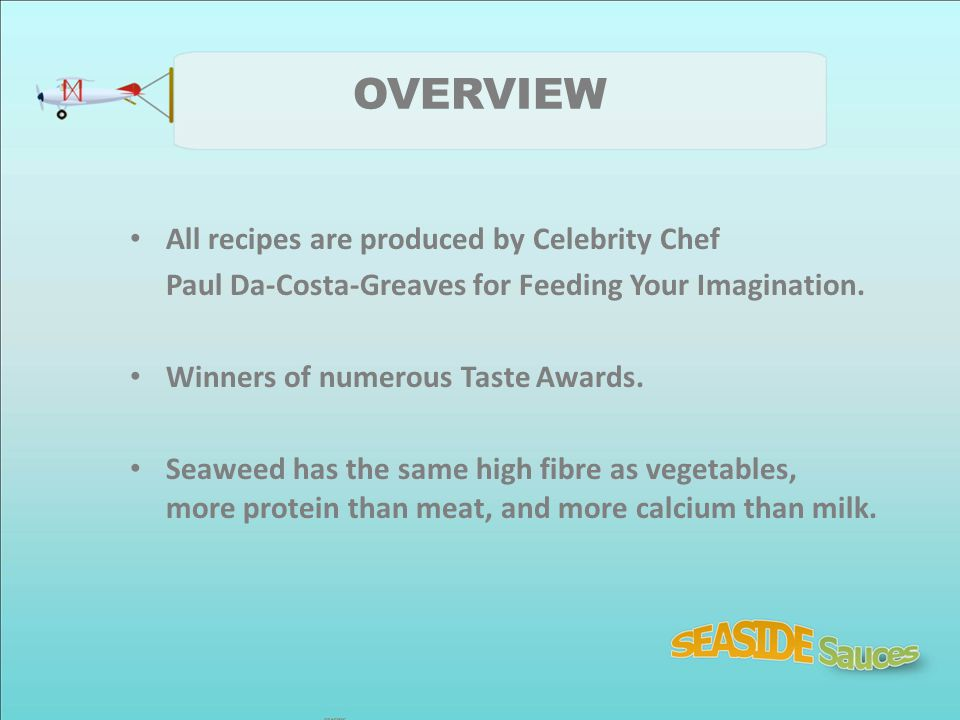OVERVIEW All recipes are produced by Celebrity Chef