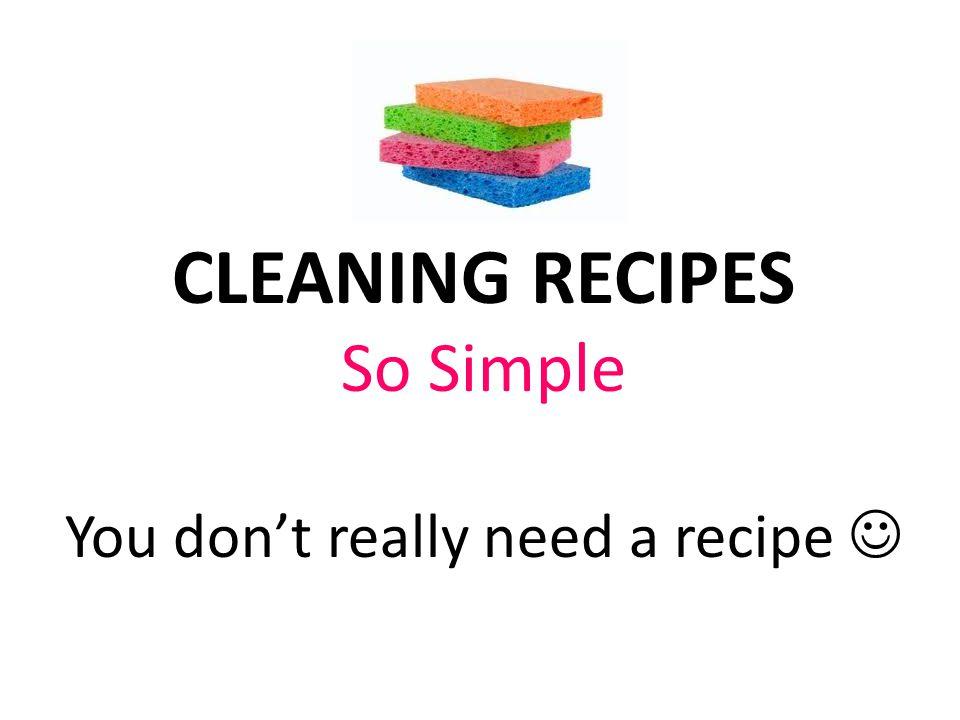 You don't really need a recipe 