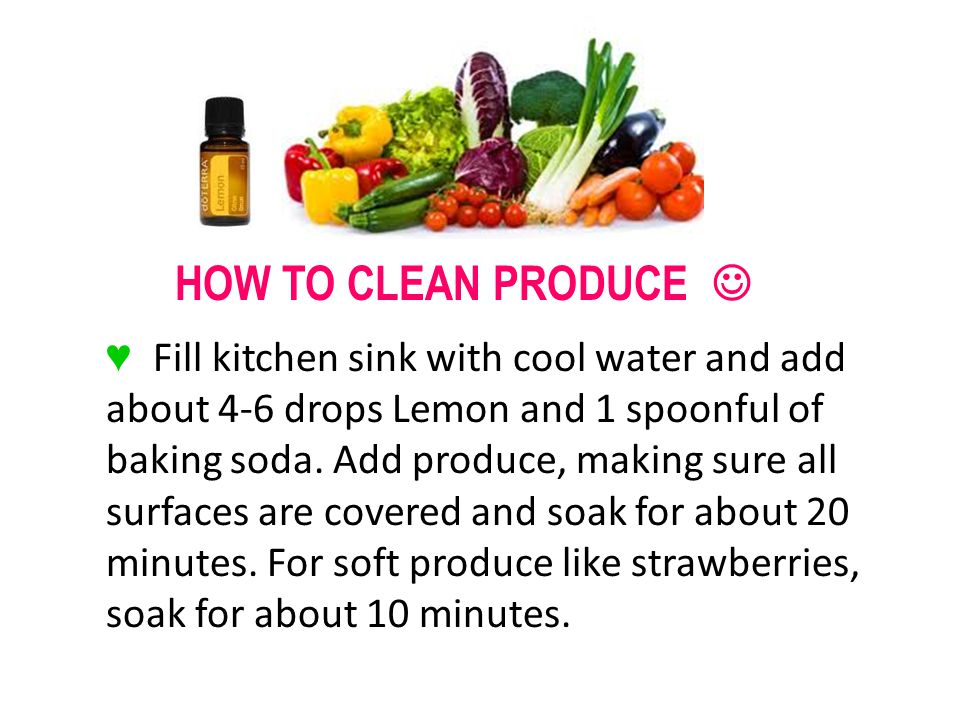 HOW TO CLEAN PRODUCE 