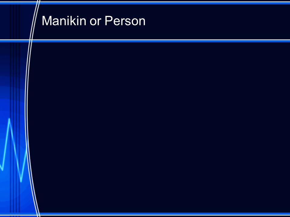 Manikin or Person