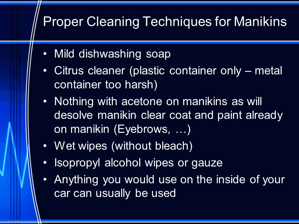 Proper Cleaning Techniques for Manikins