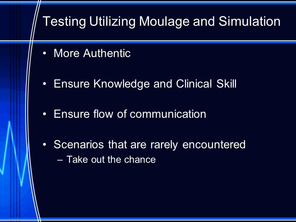 Testing Utilizing Moulage and Simulation
