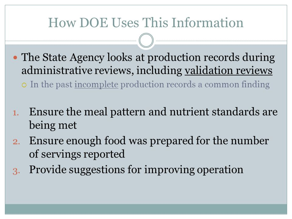 How DOE Uses This Information