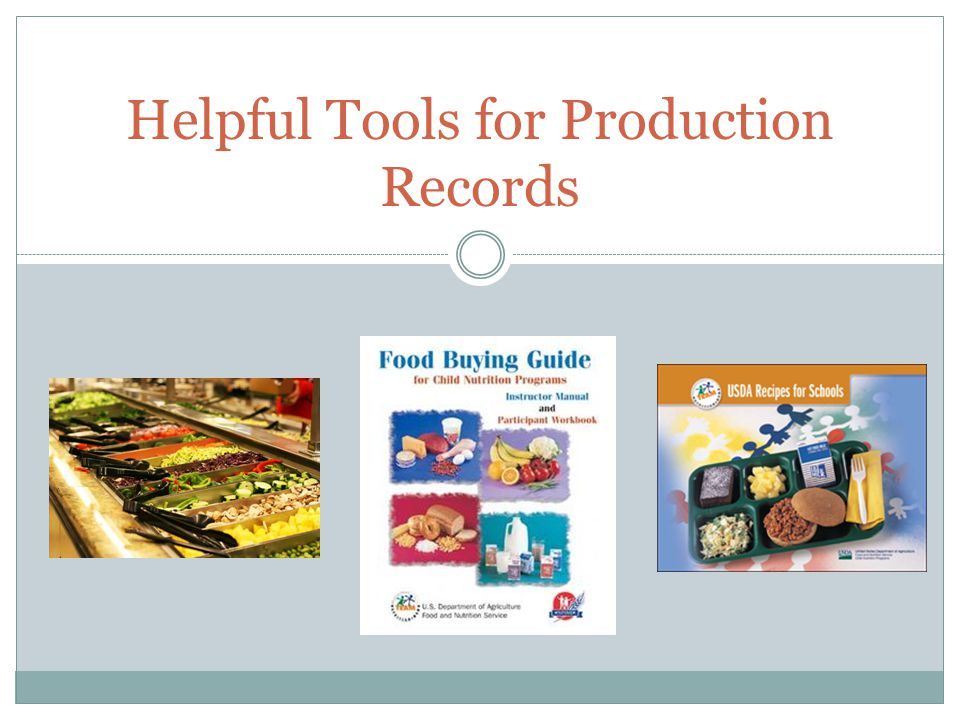 Helpful Tools for Production Records