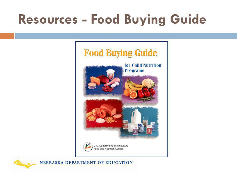 Resources - Food Buying Guide