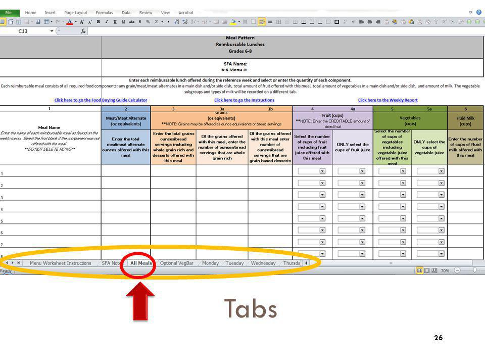 Tips: Zoom. Here's a view when you open up the certification worksheet document.