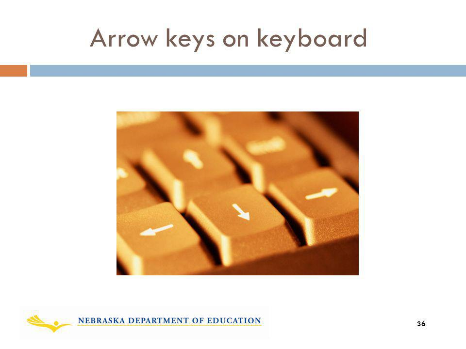 Arrow keys on keyboard Add graphic showing the move