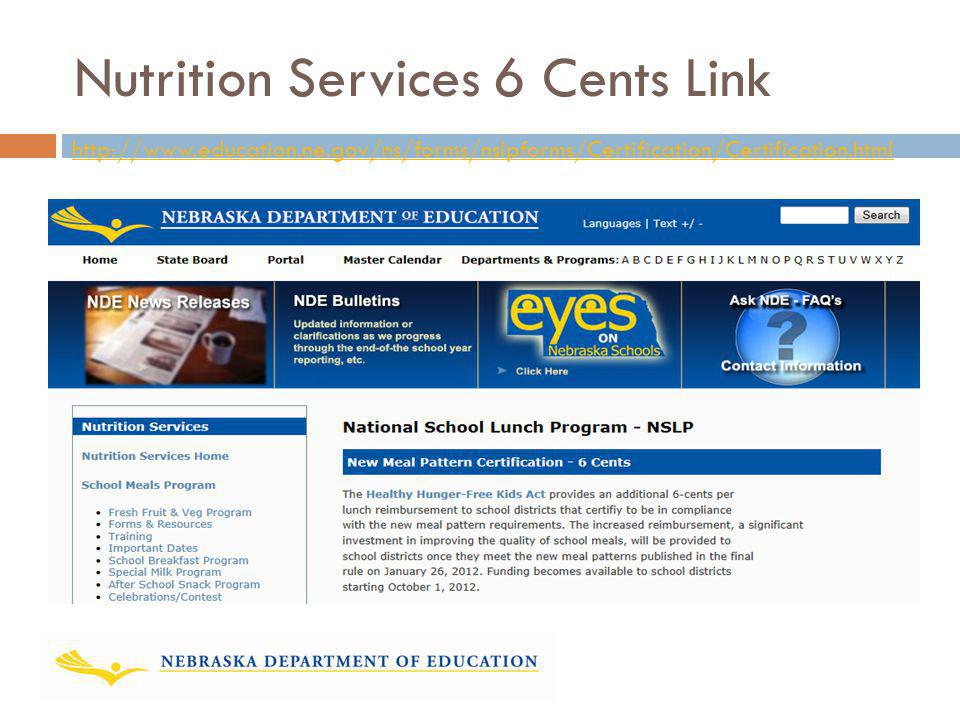 Nutrition Services 6 Cents Link