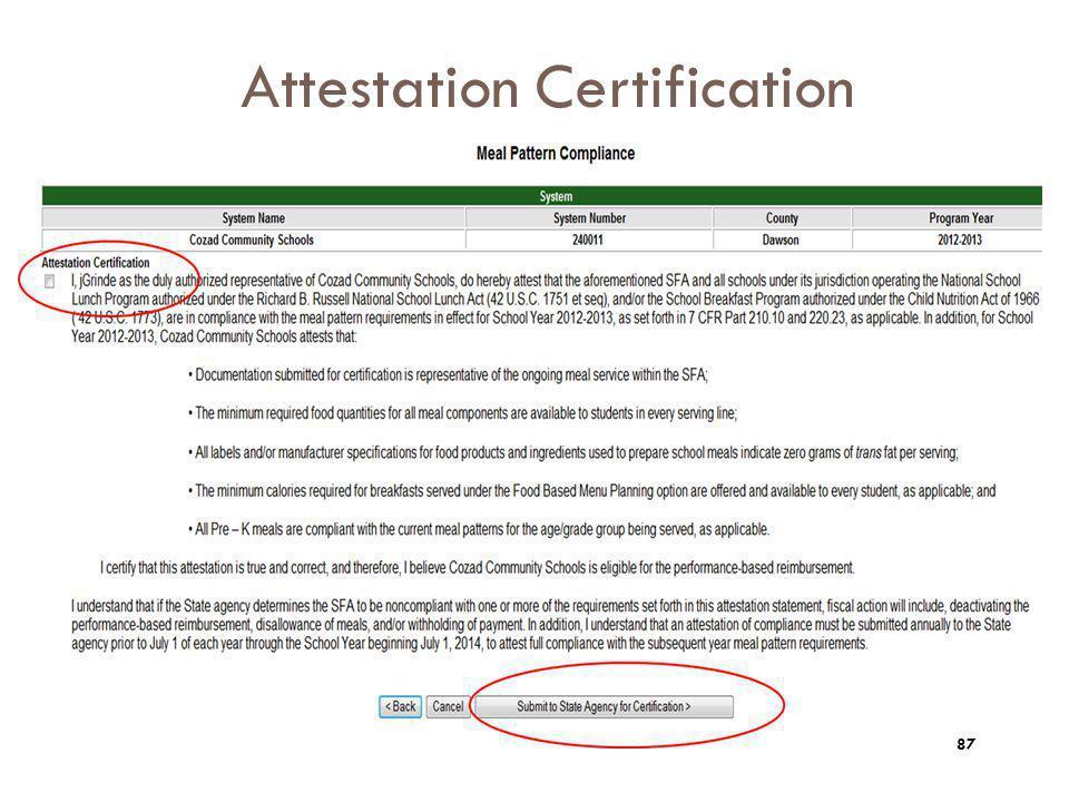 Attestation Certification