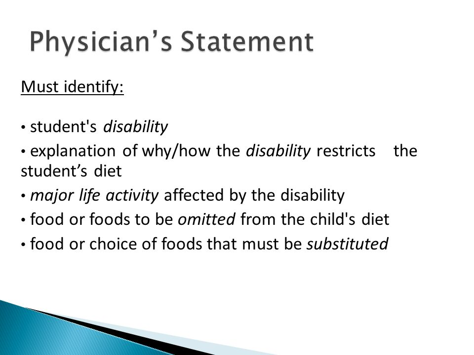 Physician's Statement