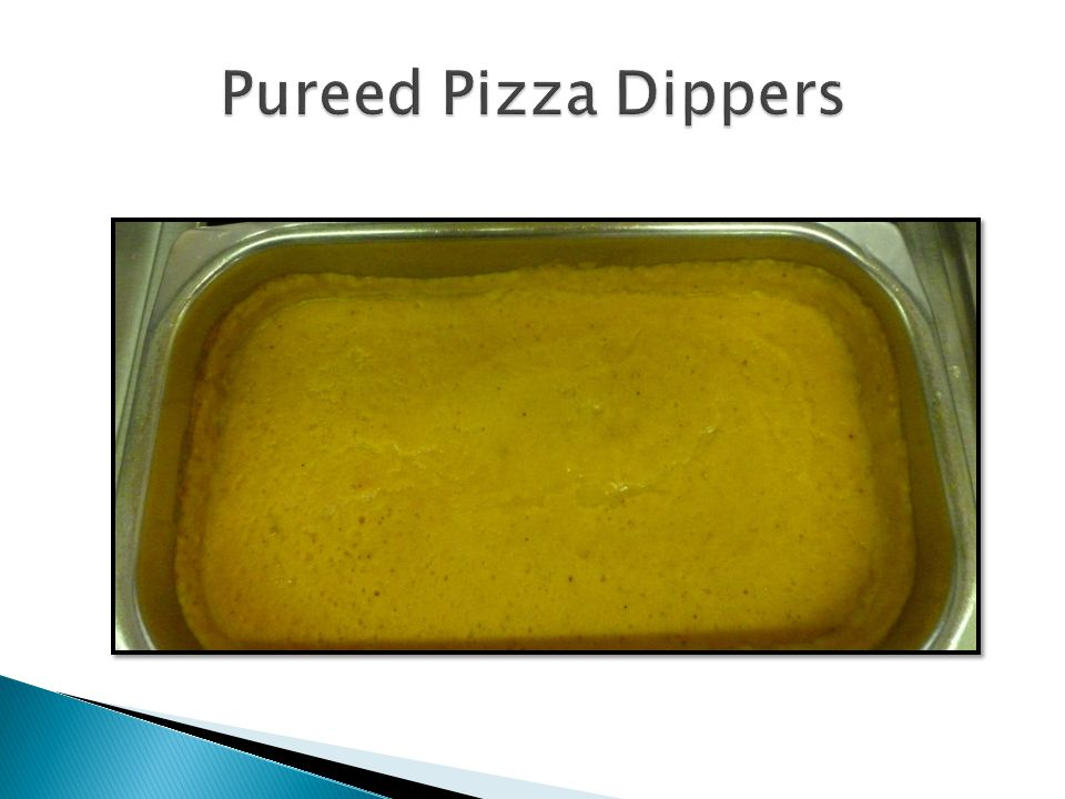 Pureed Pizza Dippers
