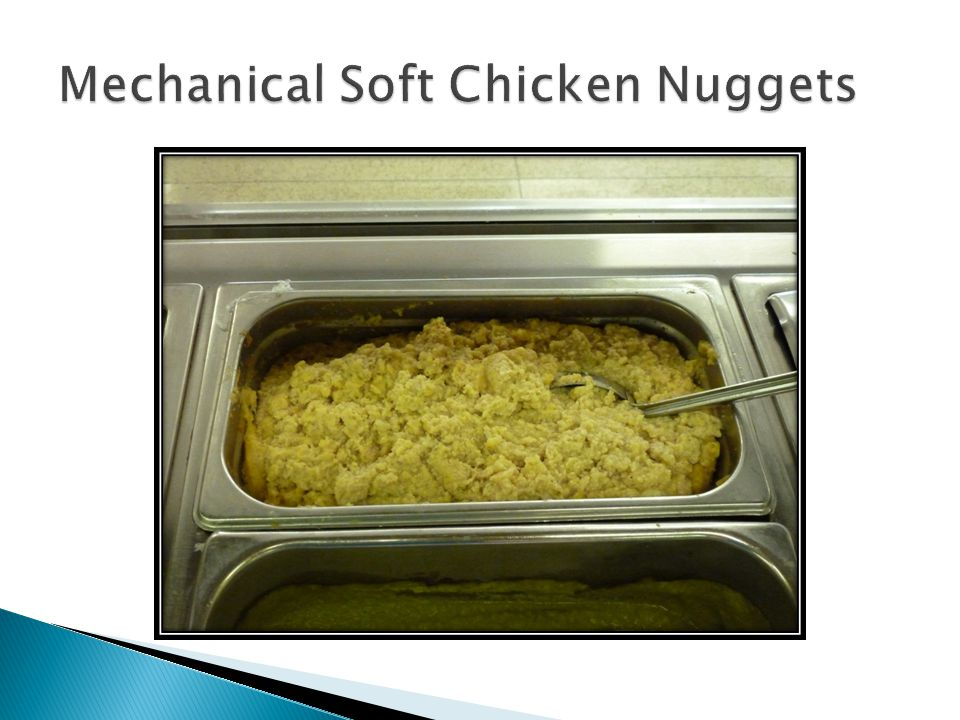 Mechanical Soft Chicken Nuggets