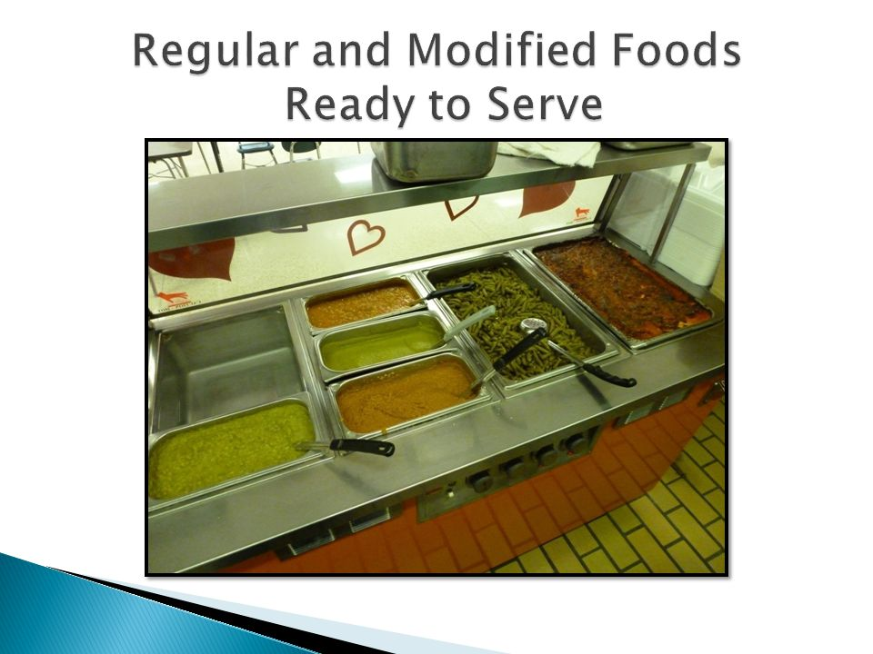 Regular and Modified Foods Ready to Serve