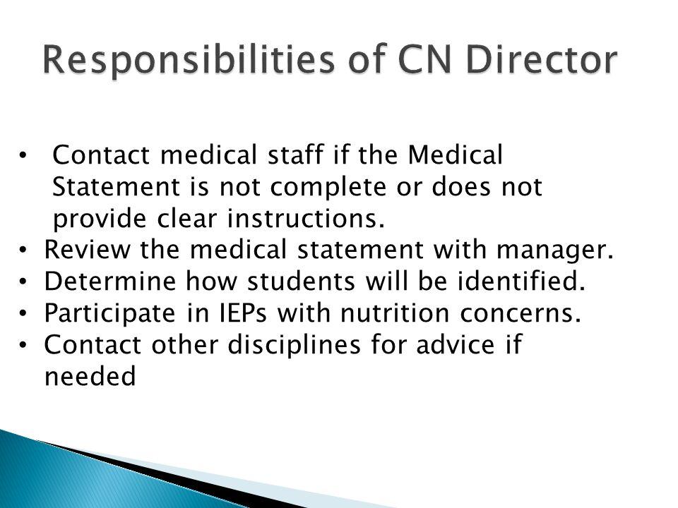 Responsibilities of CN Director