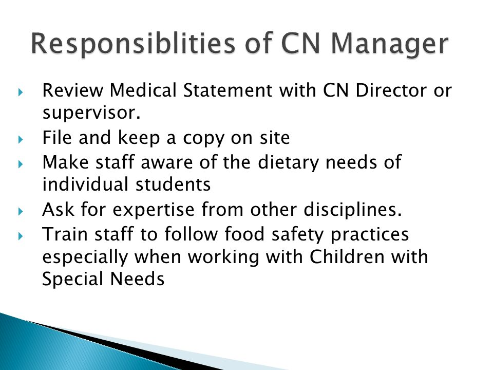 Responsiblities of CN Manager