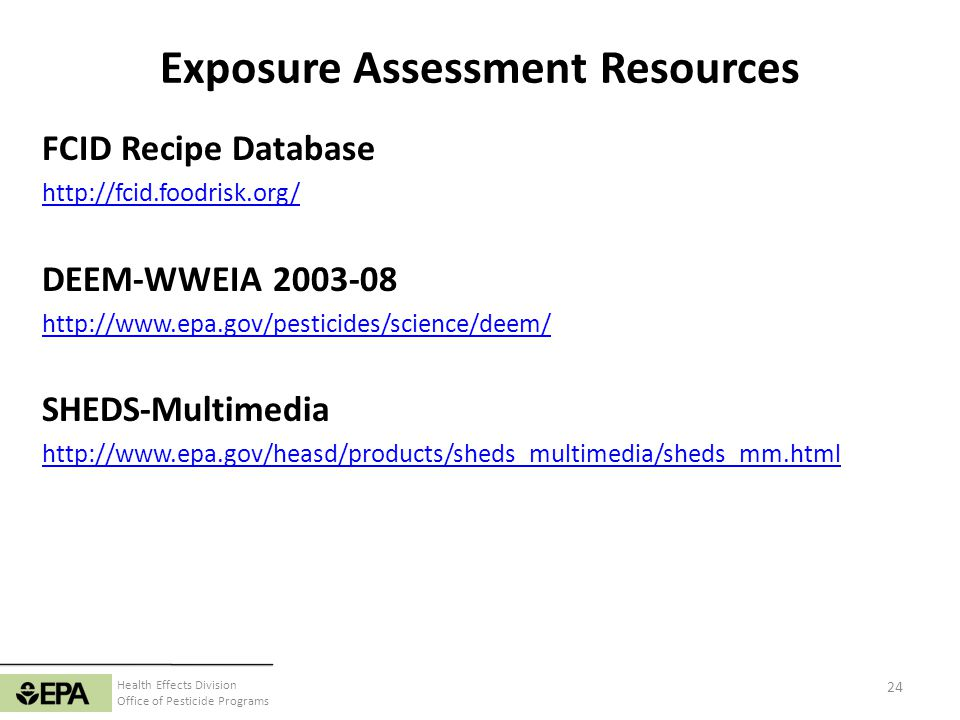 Exposure Assessment Resources