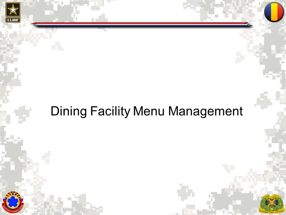 Dining Facility Menu Management