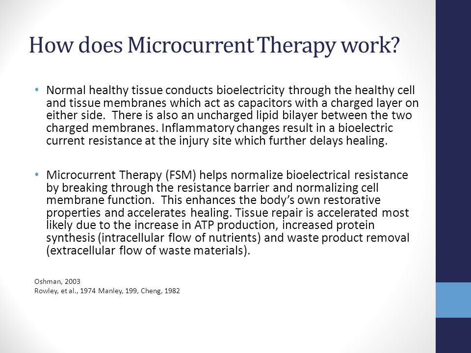 How does Microcurrent Therapy work