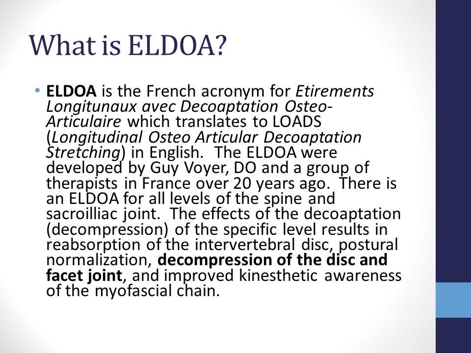 What is ELDOA