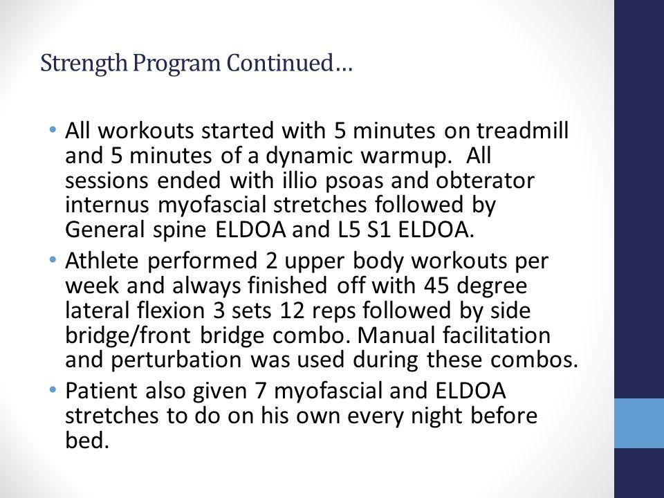 Strength Program Continued…