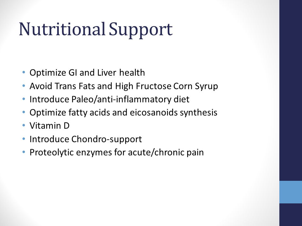 Nutritional Support Optimize GI and Liver health