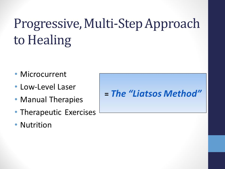 Progressive, Multi-Step Approach to Healing