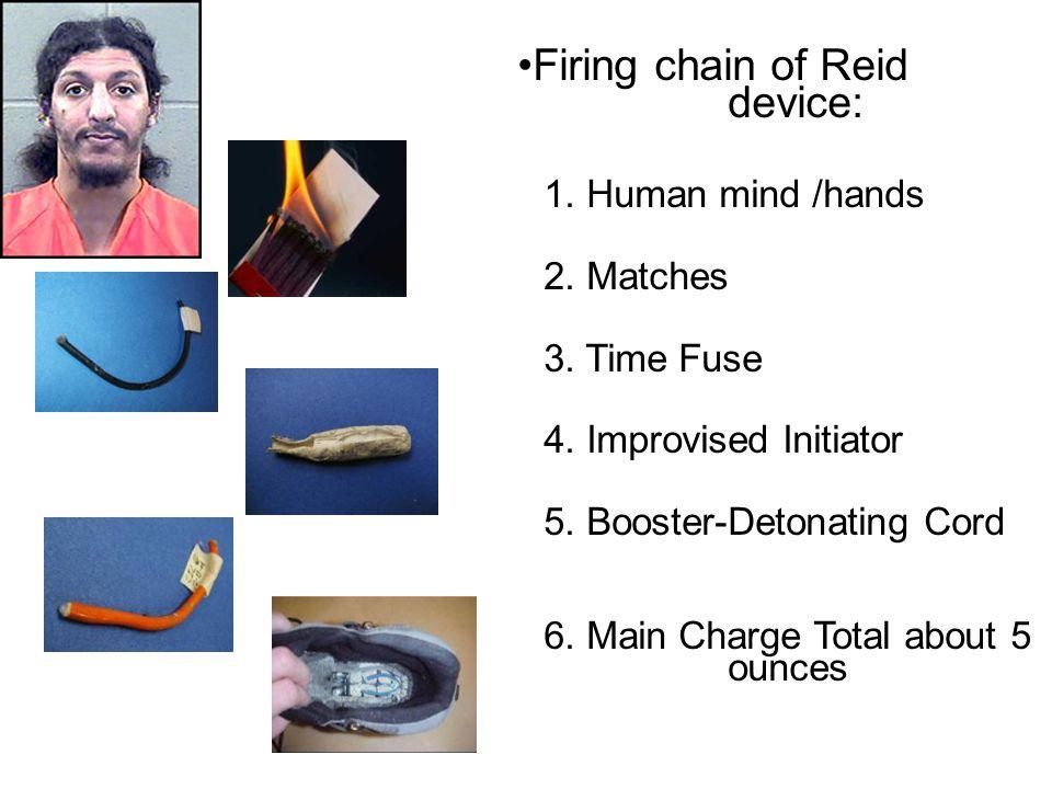 Firing chain of Reid device: