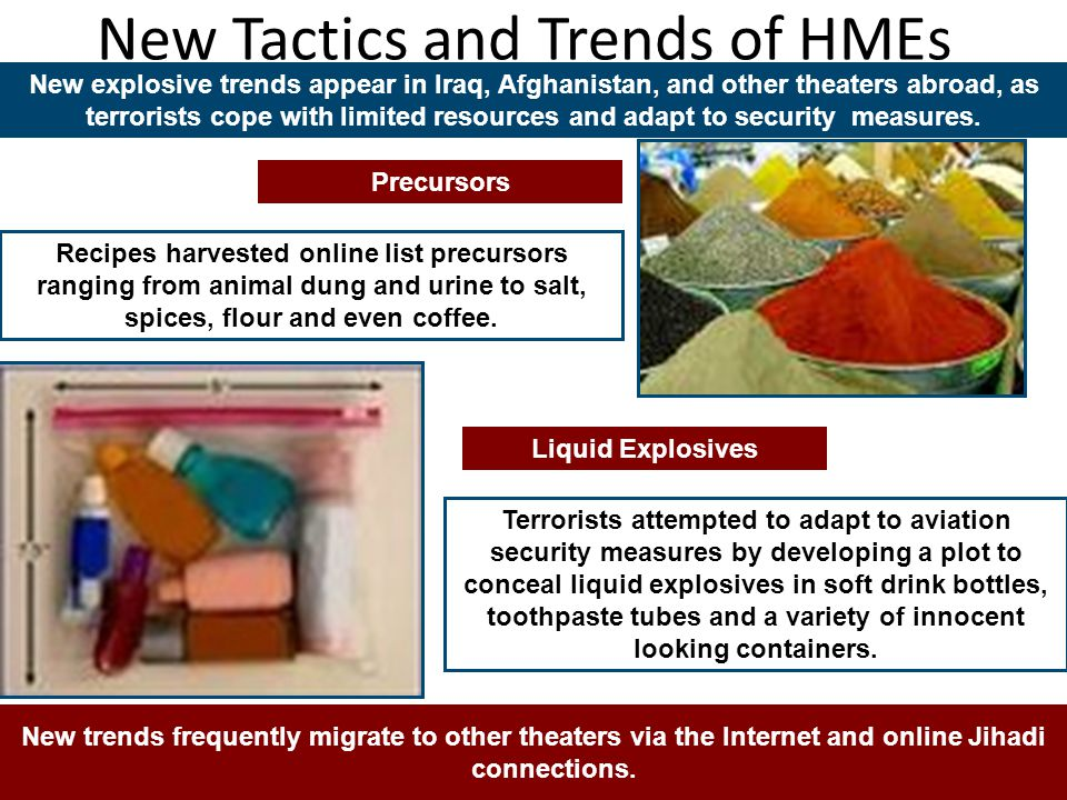 New Tactics and Trends of HMEs