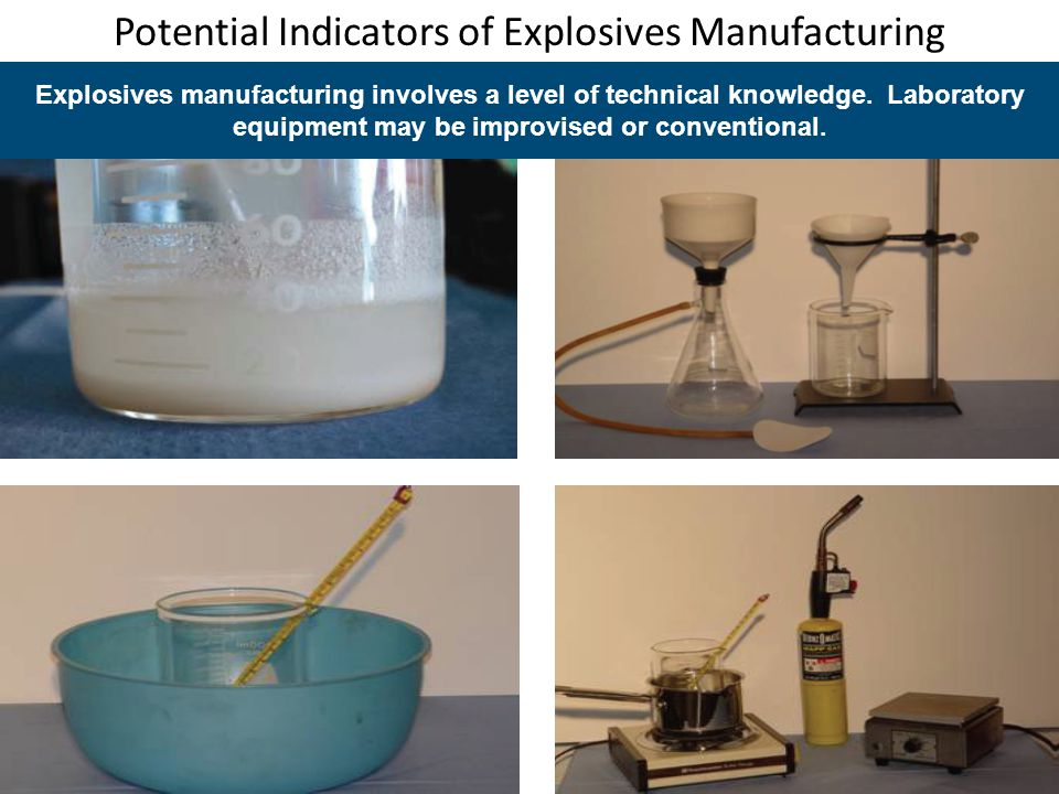 Potential Indicators of Explosives Manufacturing
