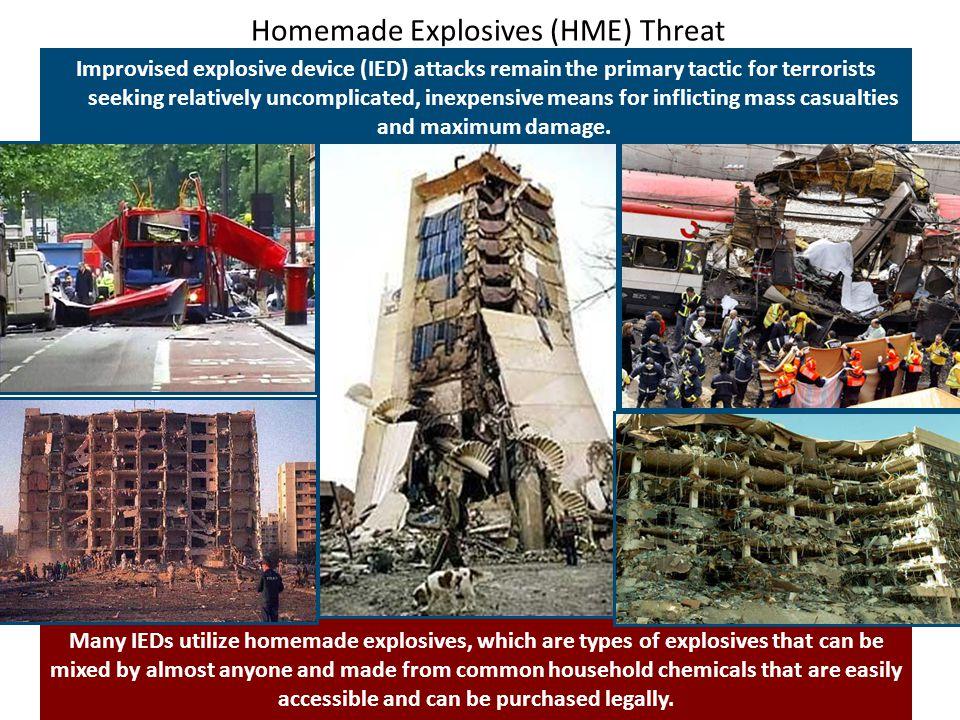 Homemade Explosives (HME) Threat