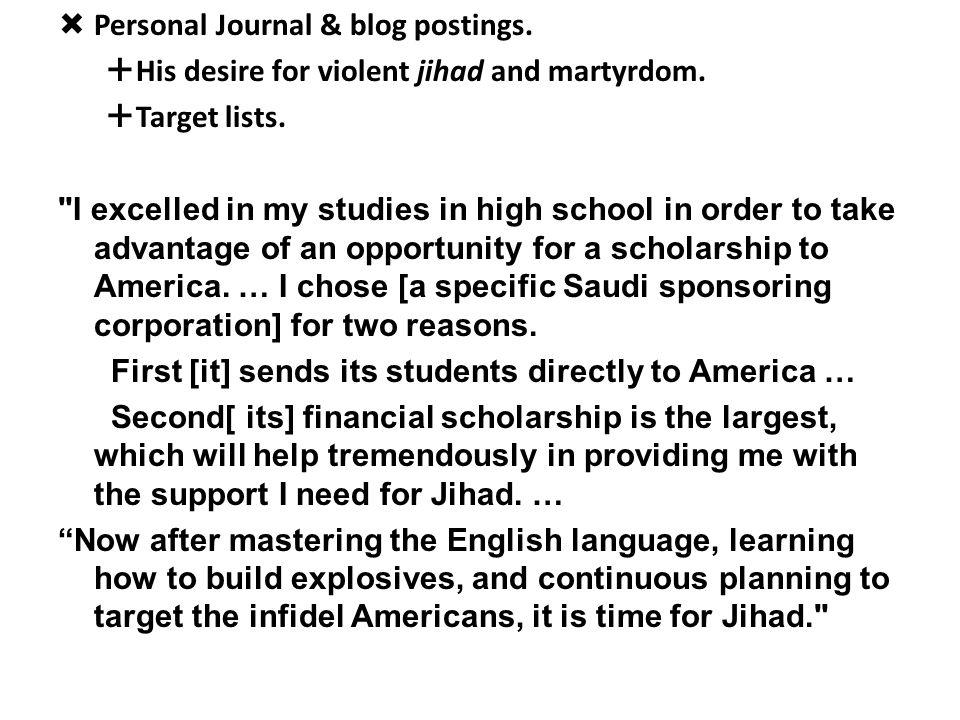 Personal Journal & blog postings.