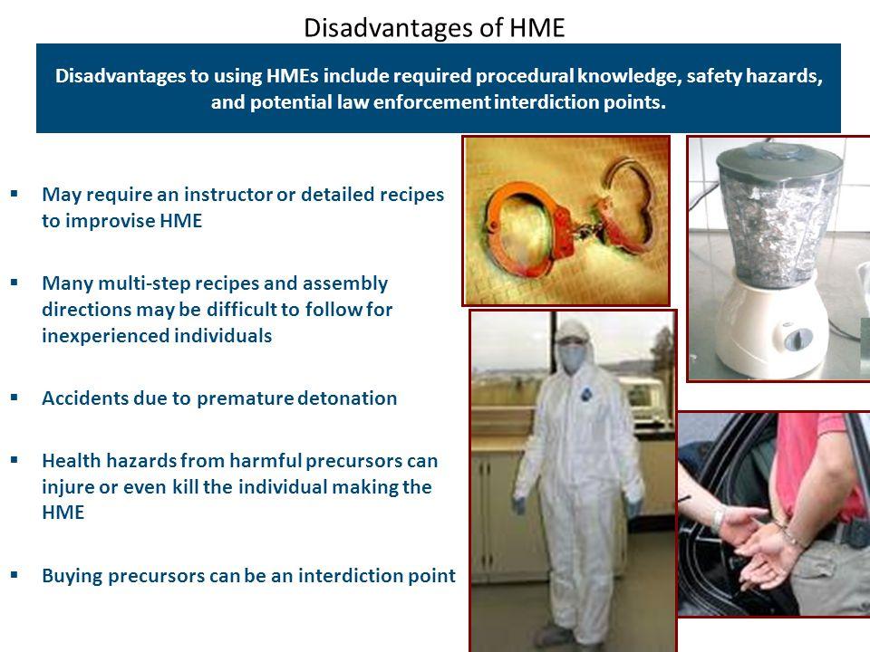 Disadvantages of HME