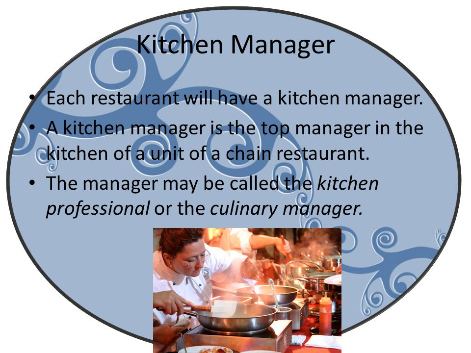 Restaurant Kitchen Manager back-of-the-house functions & back-of-the-house staff - ppt download